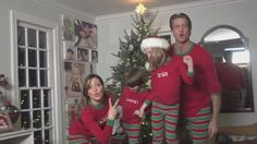 Bored with the ordinary paper Christmas greeting, the Holderness family decided to record and release a rap video of them in their Christmas pyjamas.
