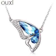 Unicornio Unicorn collar cadena Necklace remolque con pedrería metal señora