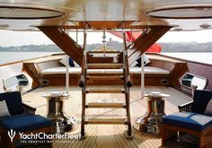 ... Talitha Yacht Stairwell to Sundeck ...