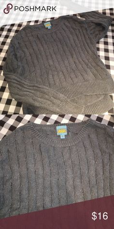 Grey Open Stitch High-Low C&C California Sweater High-Low grey sweater by C&C California. Size medium! Great condition. C&C California Sweaters Crew & Scoop Necks