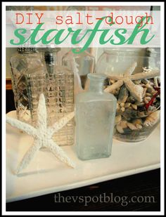Coastal Craft: easy DIY starfish made from salt dough. Seaside Decor, Coastal Decor, Coastal Living, Coastal Furniture, Coastal Entryway, Coastal Rugs, Coastal Farmhouse, Boat Furniture, Seaside Theme