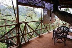 Vythiri. Tree house resort in India