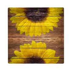 Shop Yellow Sunflowers Rustic Vintage Brown Wood Plaque created by girly_trend. Sunflower Room, Sunflower Wall Decor, Sunflower Crafts, Yellow Sunflower, Sunflower Decorations, Sunflower Kitchen, Diy Painting, Painting On Wood, Pallet Art