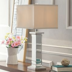 Inspire Q Kohala 3-way Crystal Mirror Base 1-light Accent Table Lamp   Overstock.com Shopping - The Best Prices on INSPIRE Q Desk Lamps