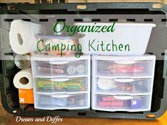Dream and Differ: Organized Camp Kitchen in a Plastic Tote