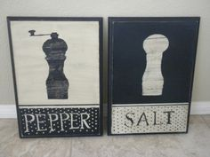 DIY kitchen art - salt & pepper shakers