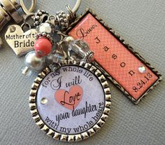 MOTHER of the BRIDE gift PERSONALIZED mother of groom by buttonit