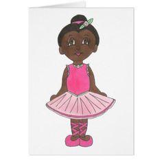 Cute Ballerina Pink Tutu Ballet Girl Dance Teacher Card - pink gifts style ideas cyo unique