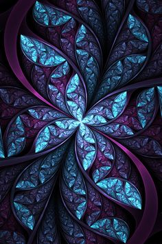 Fractal | purple & blue