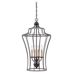 Just bought this!! Love it in our foyer,  chandelier showcases a birdcage-inspired design and candelabra-style lights.