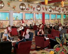 Lounge Adjoining Indoor Heated Pool, Butlin's, Bognor Regis by Edmund Nägele, probably late 1960s. See the Exposure column at Design Observer. http://designobserver.com/feature/exposure-butlin-holiday-camp/38809/