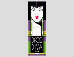 Art Deco Woman Cross Stitch Deco Diva Art by NewYorkNeedleworks, $8.50