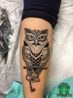 Owl Forearm Tattoo, Forearm Band Tattoos, Wrist Tattoos For Guys, Body Art Tattoos, Sleeve Tattoos, Tribal Owl Tattoos, Mens Owl Tattoo, Girly Tattoos, Cool Tattoos