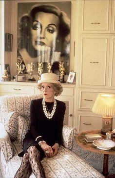 1989.  Bette Davis, with her Oscars //    1935 = Dangerous & 1938 = Jezabel