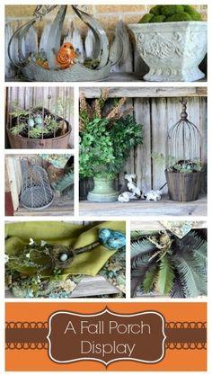 A Fall Porch Display
