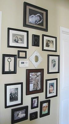 photo wall, Doing This! and u barely notice the thermostat!