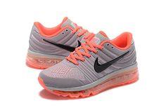 Nike Air Max 2017 Women Grey Orange Shoes