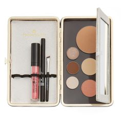 DOLLUP CASE BEST MAKEUP ORGANIZER w/ naked magnetic palette for makeup in SUGARCUBE WHITE