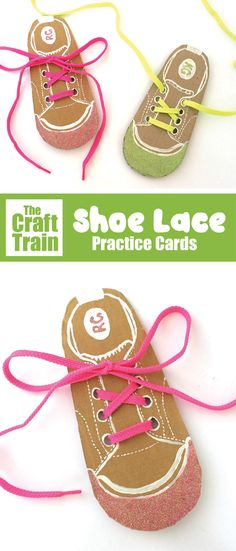 Recycle scrap cardboard into shoelace practice cards for kids. This will help them gain the confidence and skills to tie their own shoelaces – a big step! #shoalace #busyboard #learningactivities #recycledcrafts #kidsactivities #kidscrafts #finemotorskills Fine Motor Activities For Kids, Preschool Learning Activities, Toddler Activities, Preschool Activities, Recycled Crafts Kids, Lacing Cards, Shoe Crafts, Tie Shoes, Crafts For Kids To Make