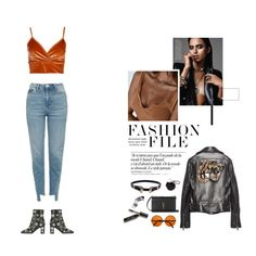 """Juicy Oranges"" by nudenim ❤ liked on Polyvore featuring Boohoo, Topshop, Valentino, Yves Saint Laurent, Chanel, Gucci and Bobbi Brown Cosmetics"