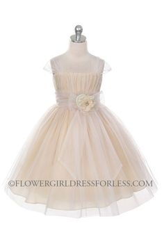 Girls Dress Style 293 - SALE Champagne size 2 (1 piece available) $39.99