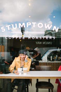 coffee shop drinking // stumptown coffee