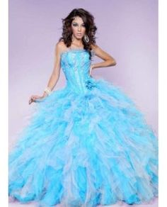Vestidos azul pastel para tus xv años 1