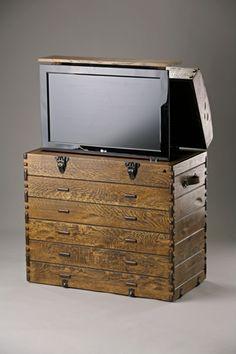 Old Trunk Cabinet For TV: Cabinet TVs Have Never Been More Elegant!