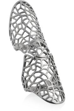 Zadig & Voltaire|By Gaia Repossi rhodium-plated ring|NET-A-PORTER.COM