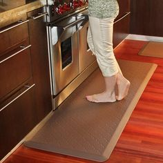 If you spend a lot of time cooking or preparing food, an anti-fatigue mat will be a welcome addition to your kitchen.  I love the Wellness Mat sent to me by the company years ago.