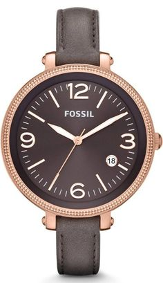 #Fossil #Watch , FOSSIL Heather Three Hand Leather Watch - Grey #ES3216