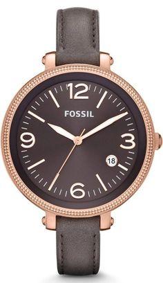 #Fossil #Watch , FOSSIL Heather Three Hand Leather Watch - Grey #ES3216