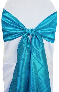 Pintuck Taffeta Sashes rental 718-744-8995, www.newyorksublimeevents.com Chair Ties, Chair Sashes, Chair Cover Rentals, Spandex Chair Covers, Pin Tucks, Turquoise, Color, Wedding, Women