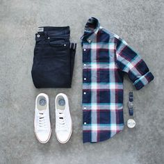 Check Shirt Outfits For men