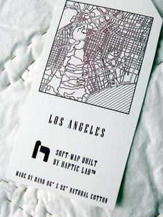 Los Angeles City Quilt from Haptic Lab my friend makes these.