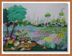 "Arte naif Pilar Sala GALERIA ""Familia de leopardos"""";"