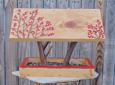 Persnickety Bird Feeder - Covered Bridge Style Open Air Bird Feeder In Twigs…
