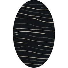 Dalyn Rug Co. Bella Black Area Rug Rug Size: Oval 5' x 8'