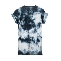 Abstract Black Tie Dye T-Shirt