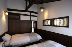 Glass Brick, Japanese Interior, My Dream Home, Bunk Beds, Townhouse, Bedroom, Architecture, Kyoto, Furniture