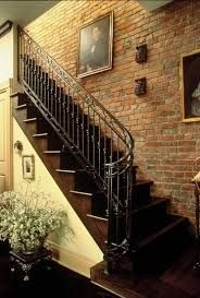 Image result for floating wooden long staircases
