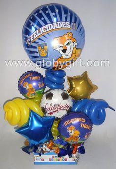 Para los fanáticos del futbol y de Tigres de la UANL, un arreglo con globos