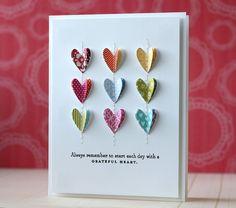Grateful Heart Card by Laura Bassen for Papertrey Ink (December 2013)
