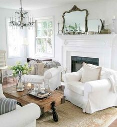 54 Gorgeous French Country Living Room Decor Ideas - Home Decor French Country Living Room, French Country Decorating, Country French, Country Bedrooms, Living Room Ideas Country Cottage, French Rustic Decor, Country Cottages, Cottage Decorating, Country Kitchen