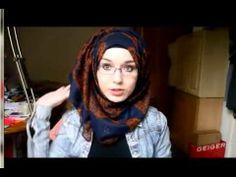 Tutorial Hijab Pashmina Bermotif - Modern - Simpel - Casual