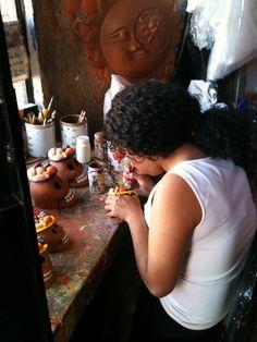 mercado de artesanías en Metepec, Estado de México