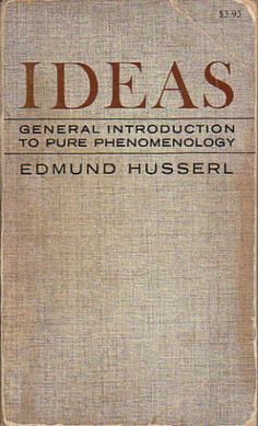 Ideas: General Introduction to Pure Phenomenology - Edmund Husserl Husserl's early thought conceived of phenomenology – the general study of what appears to conscious experience – in a relatively narrow way, mainly in relation to problems in logic and the theory of knowledge. The publication of Ideas in 1913 witnessed a significant and controversial widening of Husserl's thought, changing the course of phenomenology decisively.