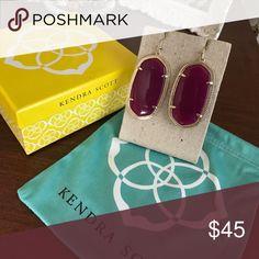 Kendra Scott- Elle Drop Earring in Purple Worn once, Elle Drop Earring from Kendra Scott Kendra Scott Jewelry Earrings