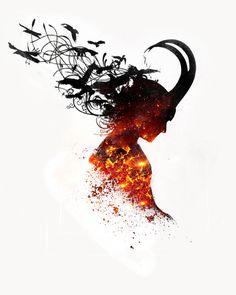 """Loki, the God of Mischief"" A beautiful artwork of him"