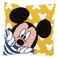 Disney - Cross Stitch Cushion Front Kit - Peek a Boo - Mickey Mouse